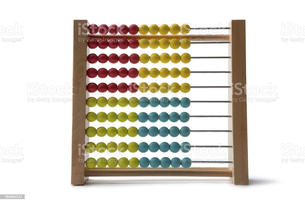 Toys: Wooden Abacus Isolated on White Background royalty-free stock photo
