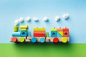 Toys: Wooden Train Still Life