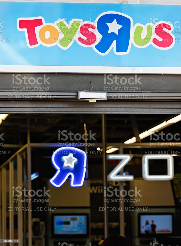 """Toys""""R""""Us storefront and signage royalty-free stock photo"""
