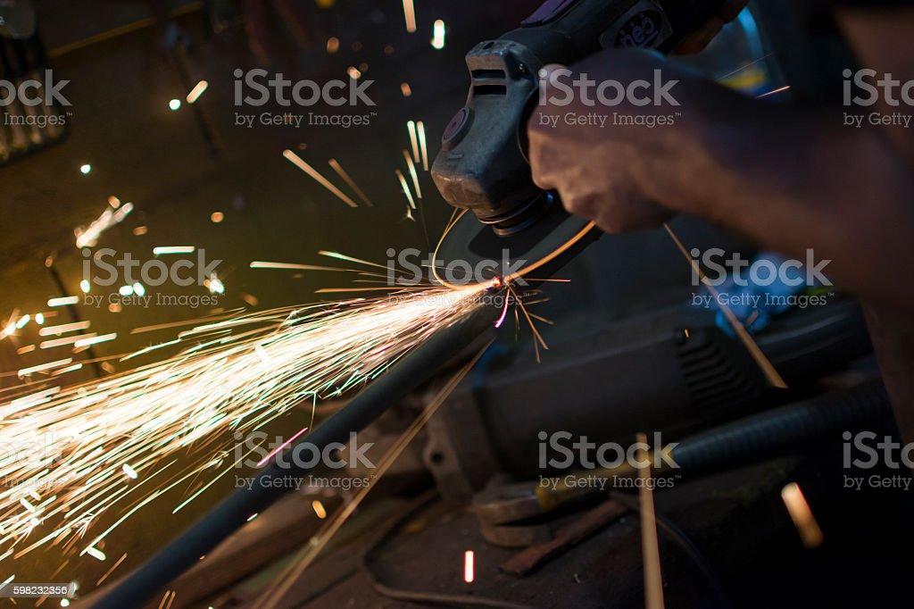 Trabajando el hierro foto royalty-free