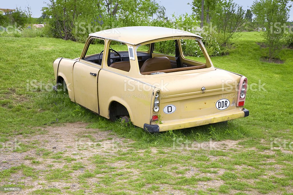 Trabant Car Symbol Of German Unity Stock Photo - Download