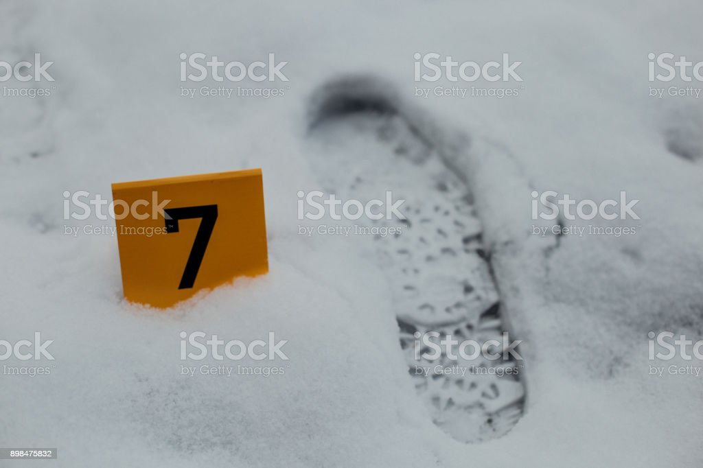 Trace as evidence in a crime scene investigation stock photo