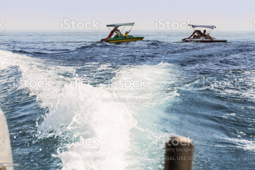 Trace from the boat. royalty-free stock photo