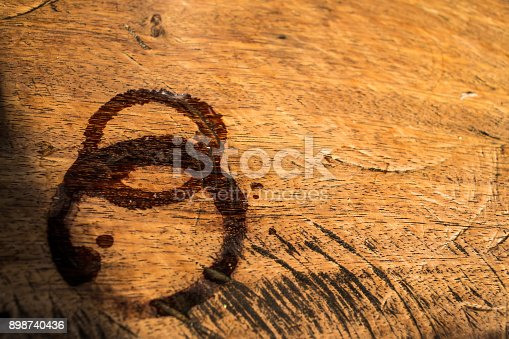 istock Trace water on wood, Abstract background 898740436