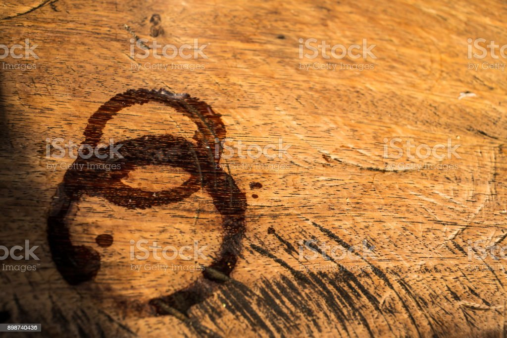Trace water on wood, Abstract background stock photo