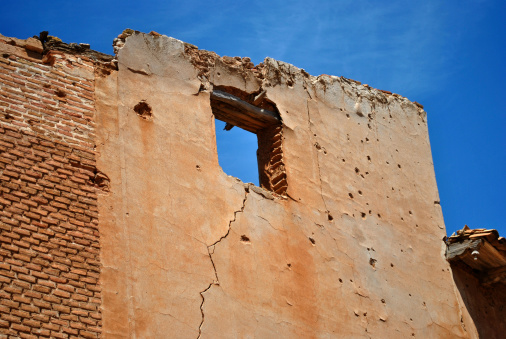 Belchite old was one of the hardest hit towns during the Spanish Civil War.