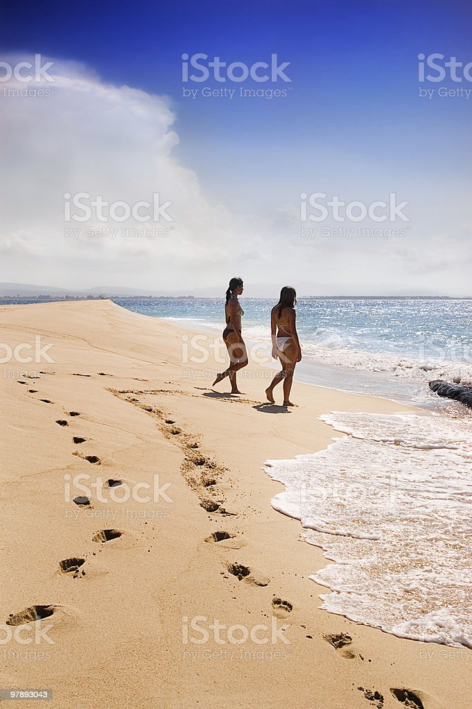 Traces on a sandy beach royalty-free stock photo