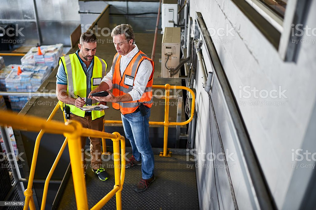 Tracing and tracking in the warehouse stock photo