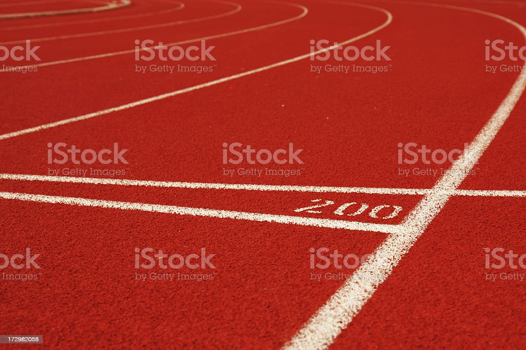 Track 200 Meter royalty-free stock photo