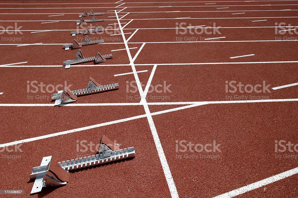 Track & Field royalty-free stock photo