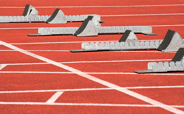 Track and field athletics stock photo