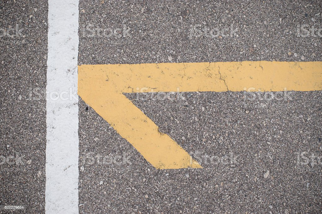 track and field course arrow stock photo