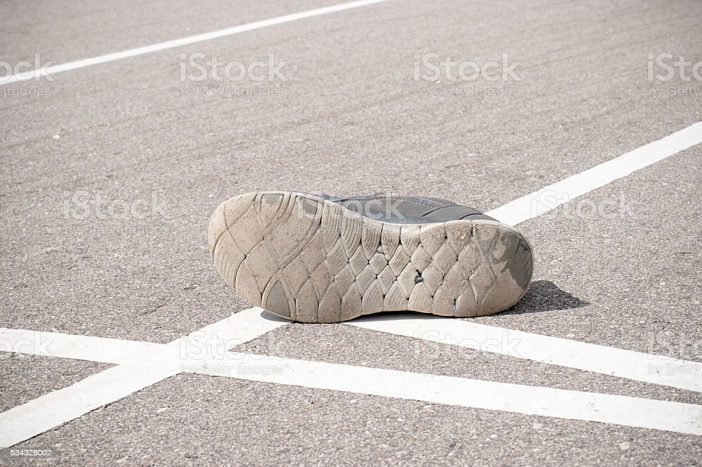 track and field course empty discarded stock photo