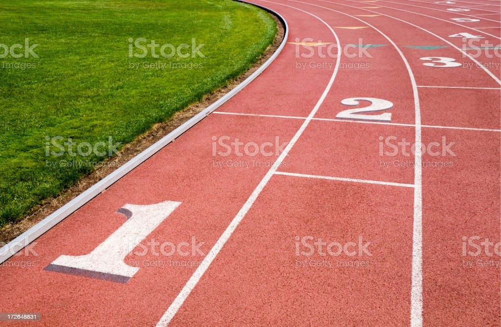 Track and Field Detail royalty-free stock photo