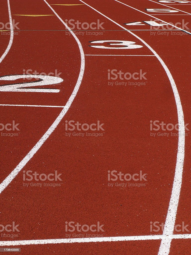 Track And Field Lanes royalty-free stock photo