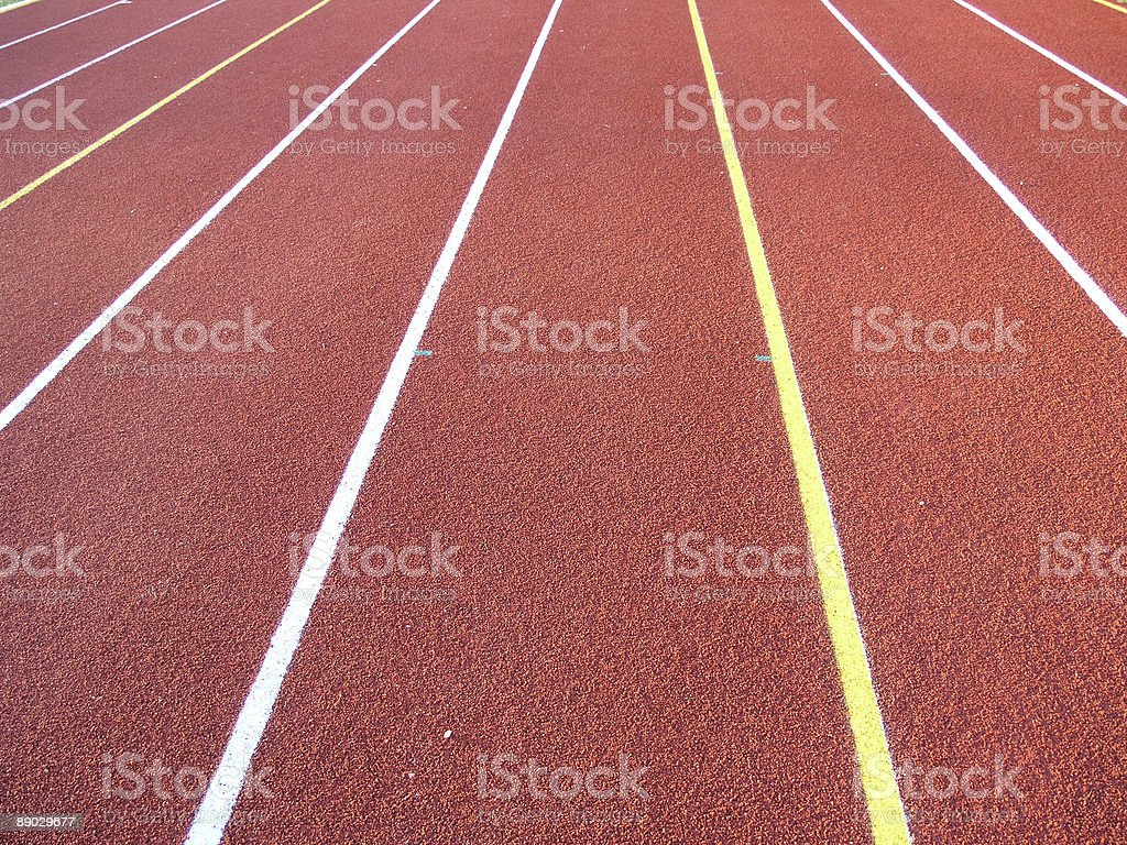 Track and field - lanes royalty-free stock photo