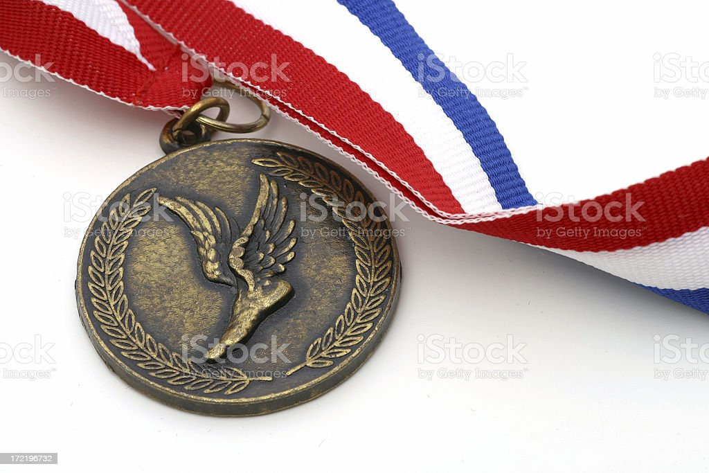 Track and Field Medal royalty-free stock photo