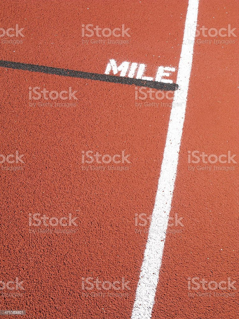 Track And Field Mile Marker  Sport royalty-free stock photo