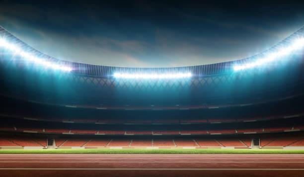 トラックとフィールド スタジアム - 陸上競技 ストックフォトと画像