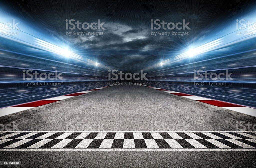 Track arena 3d stock photo