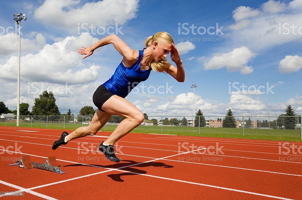 Track athlete stock photo