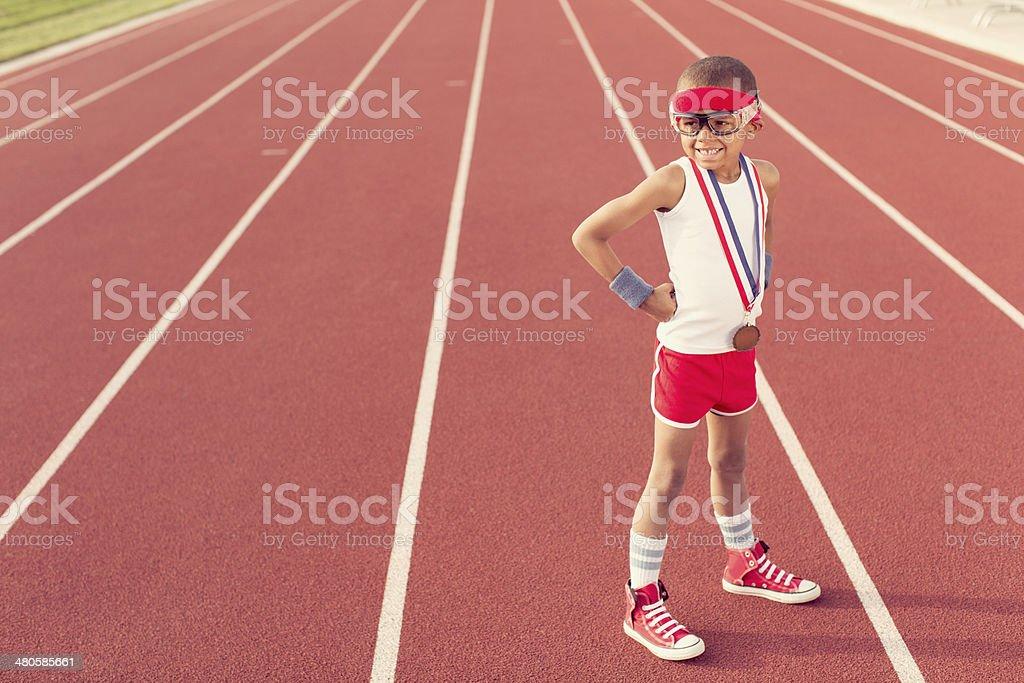 Track Champion stock photo