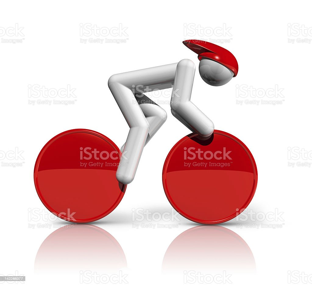 Track Cycling 3D symbol stock photo