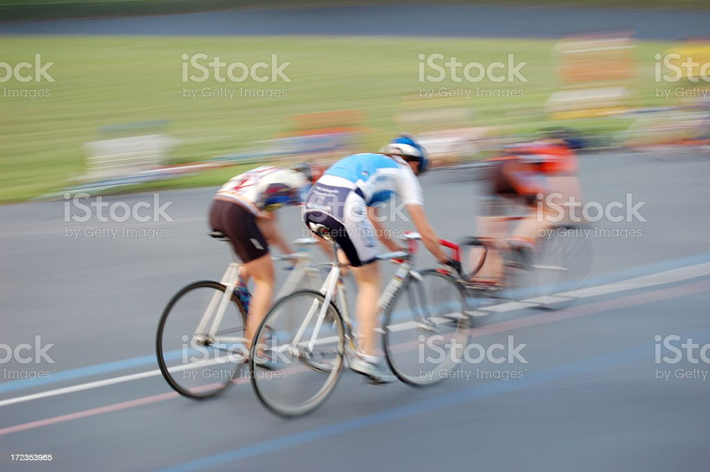 Track cycling stock photo