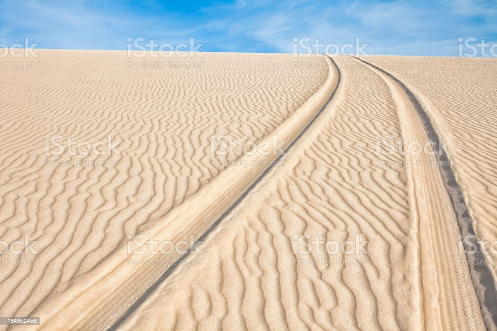 Track dune backgrounds stock photo