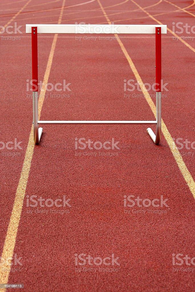 Track hurdle royalty-free stock photo