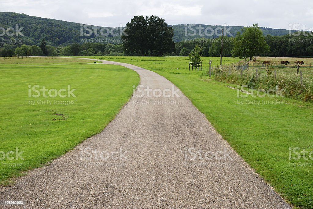 Track in countryside. Sussex. England royalty-free stock photo