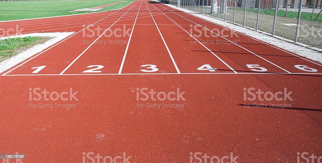 Track lane royalty-free stock photo