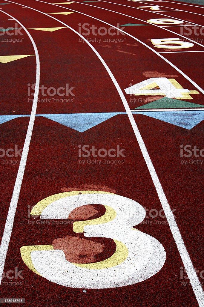 Track Lane #3 stock photo