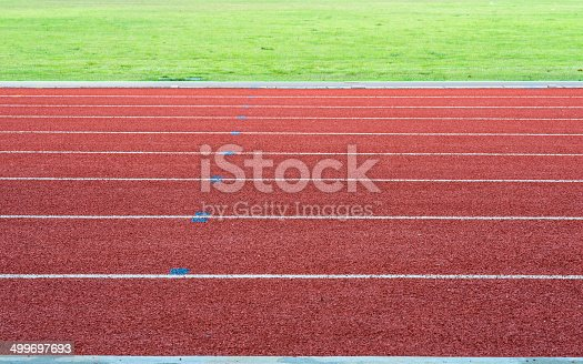 Athletics Track Lane with grass