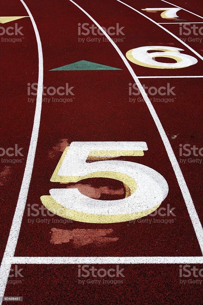 Track Lane #5 stock photo