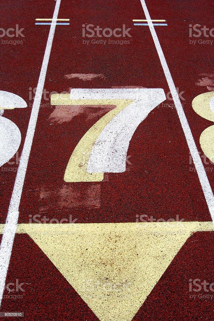 Track Lane #7 stock photo