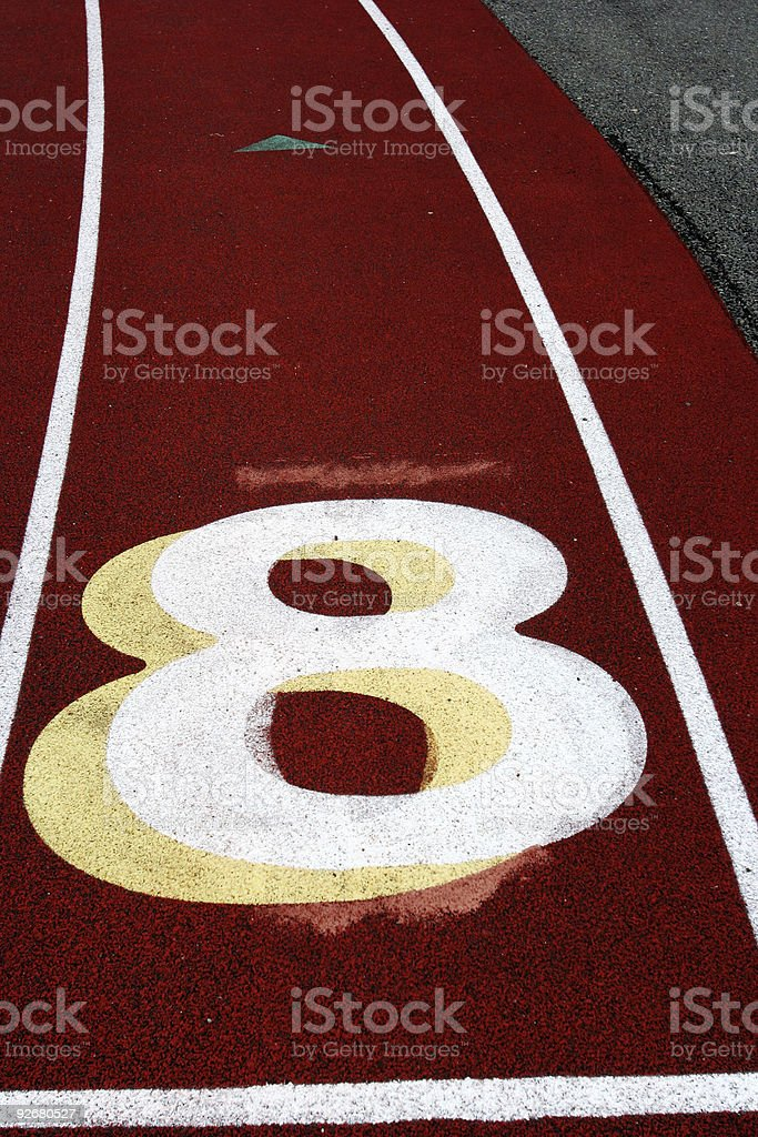 Track Lane #8 stock photo
