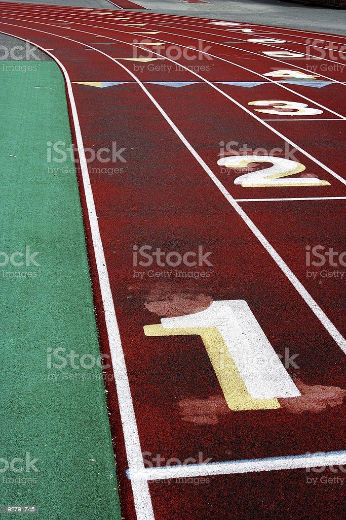 Track Lane #1 royalty-free stock photo