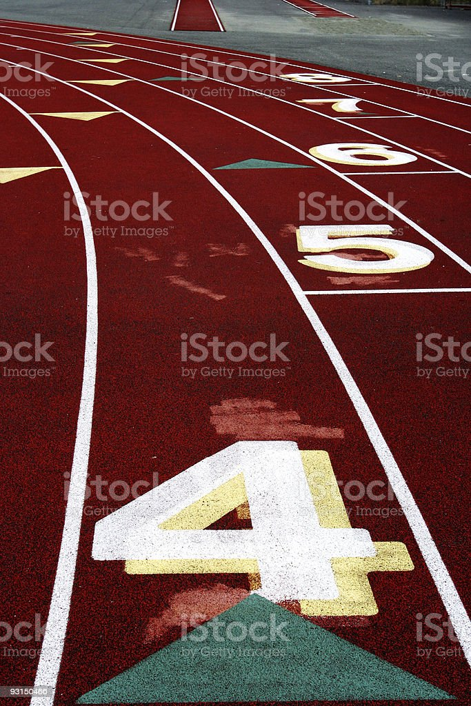 Track Lane #4 stock photo