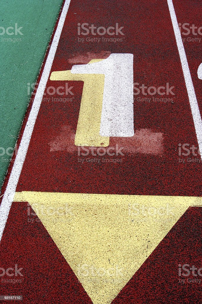 Track Lane #1 royalty-free stock photo