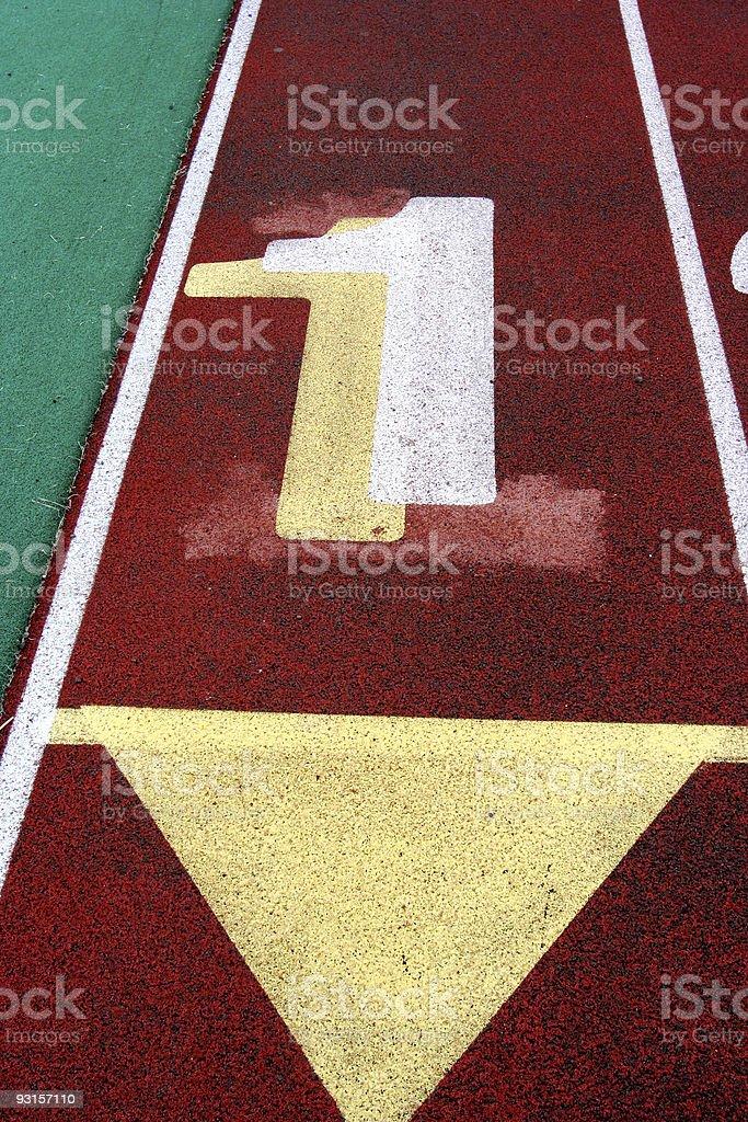 Track Lane #1 stock photo