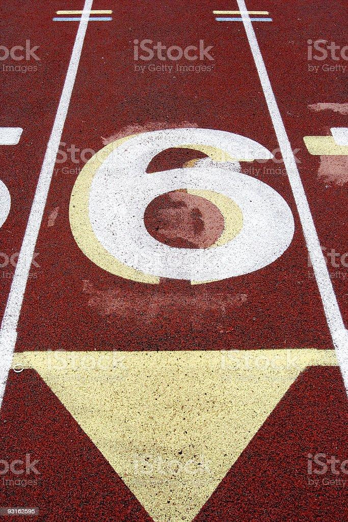 Track Lane #6 stock photo
