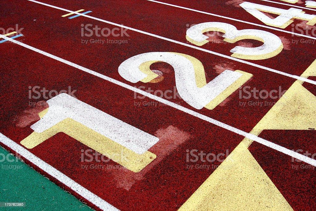 Track Lanes stock photo