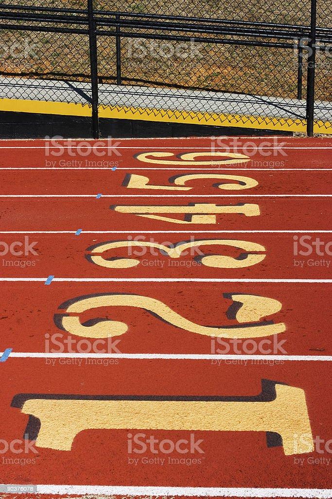 Track-lanes Lizenzfreies stock-foto