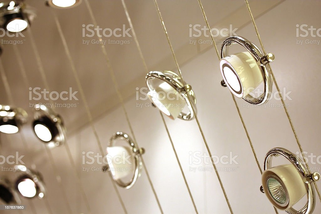 Track Lighting stock photo