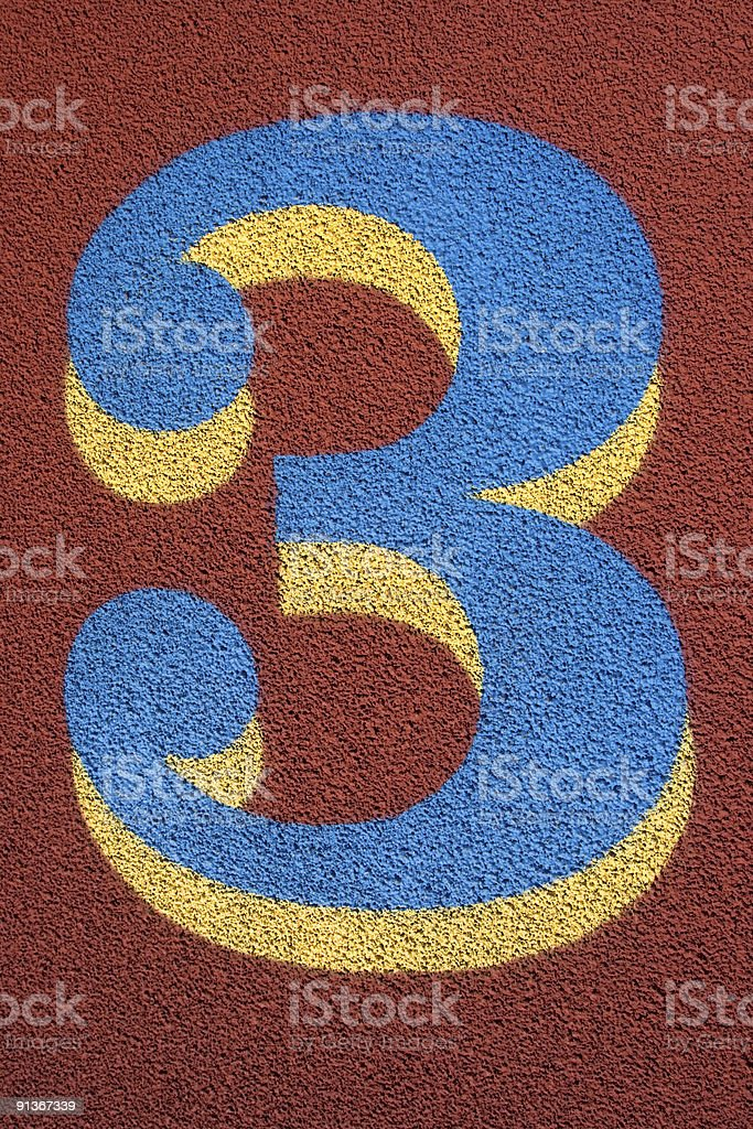 Track Number Three royalty-free stock photo