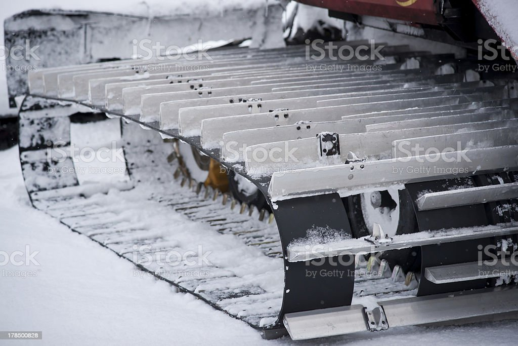 Track of a snowmobile royalty-free stock photo