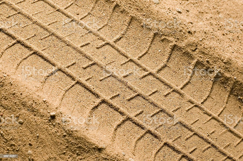 Track on sand royalty-free stock photo