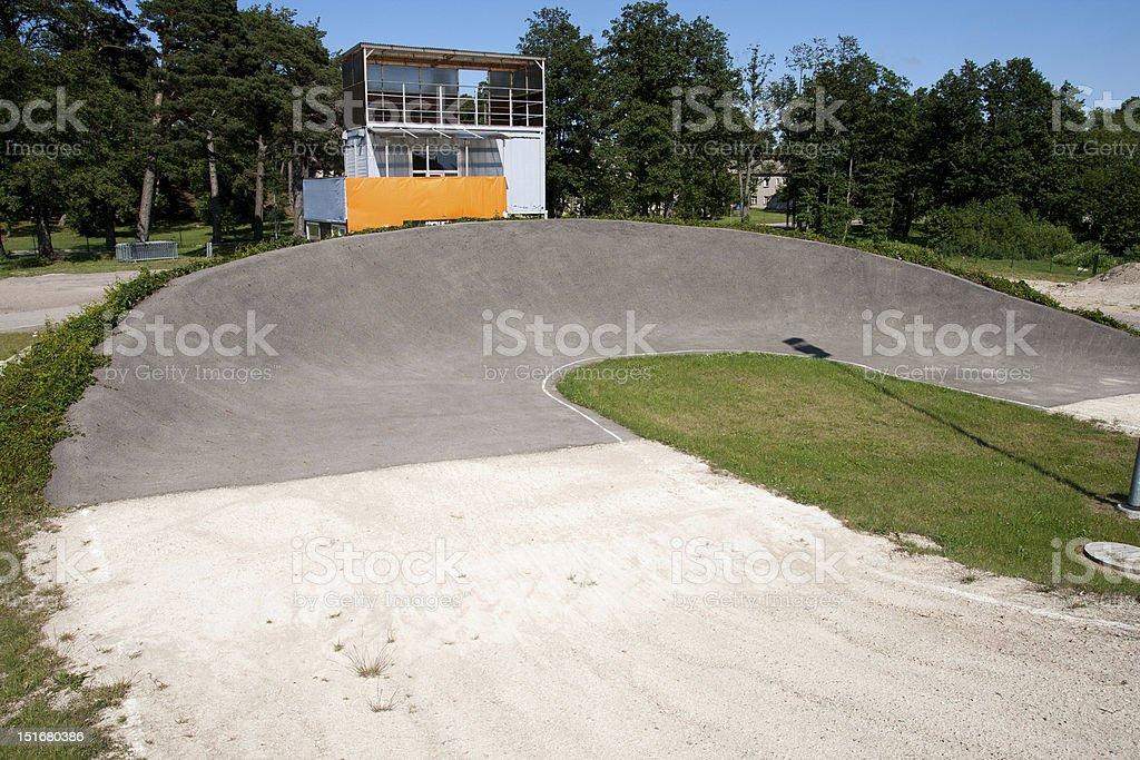 BMX track royalty-free stock photo