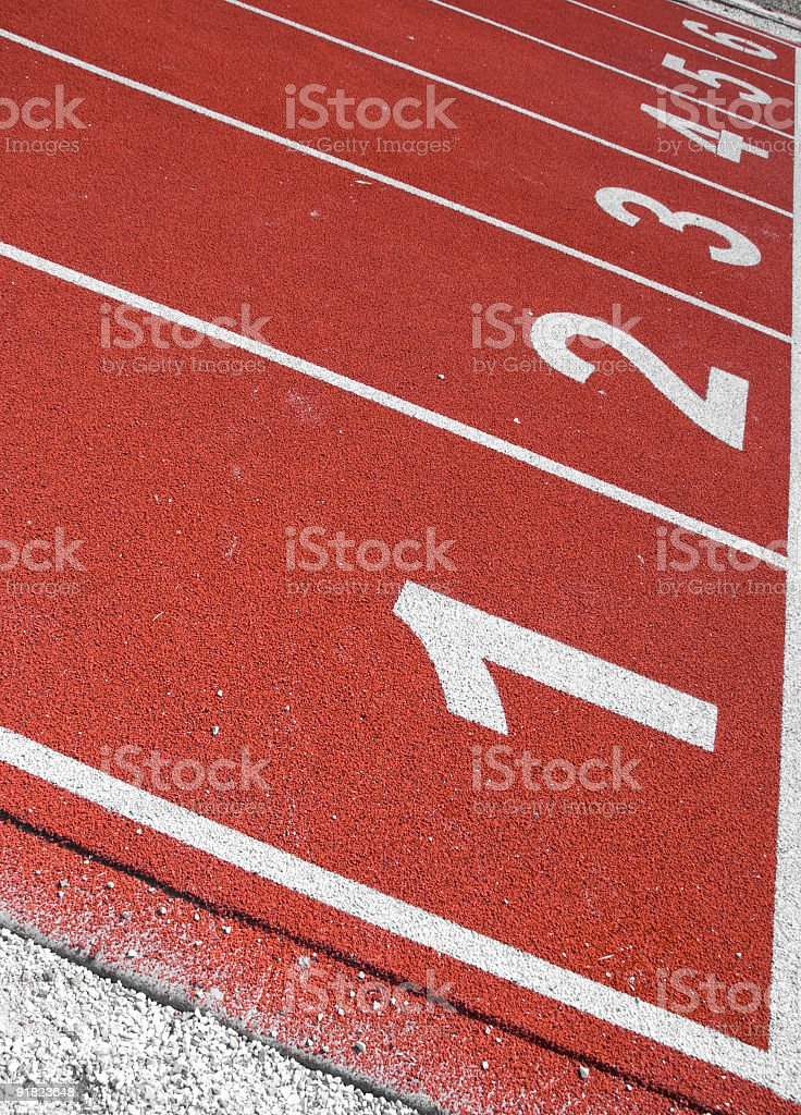 Track start line royalty-free stock photo